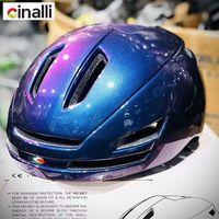 Helmets de moto Cinelli Hommes Femmes Casque Casque Casque Vélo Vélo Vélo Vélo MTV Scooter USB AVERTISSEMENT DE CHARGE D'AVERTISSEMENT