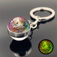 الهنود حلم الماسك الذئب مفتاح الدائري الزجاج الكرة توهج في حاملي المفاتيح مضيئة الظلام الأزياء والمجوهرات وساندي