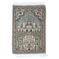 Tappeti Moschea floreale Stampa PREGHIERA PREGHIERA PREGHITURA MUSULLA MUSULLULLA MUSULLINA RUBP RAPPORTO RETVANGURATORE ADORATO MEDITAZIONE Pellegrinaggio Blanke
