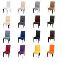 Cubierta de silla de color sólido Spandex Stretch Elastic SlibCOVERS Cubiertas de silla blancas para comedor Cocina Boda Banquete Hotel 563 S2