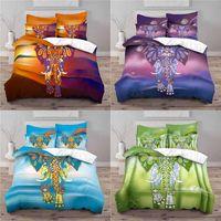 Bedding Sets Home Textile Luxury 3D Elephant Print 2 3Pcs Comfortable Duvet Cover Pillowcase Single Queen And King EU US AU Size