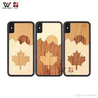 2021 Natural Fight Wood TPU Fall-resistant Phone Cases Custom Carved LOGO Cover For iPhone 6 7 8 Plus X XR XS Max 11 12 13 Pro
