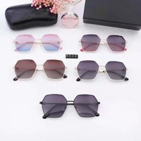 High Quality Classic Letter frame Colorful woman's sunglasses New sale Hot design Eyewear Metal Glass Lenses 5 Color with Box Or No