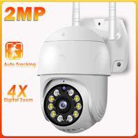 WiFi IP Camera Outdoor 4X Digital Zoom CCTV Camera 1080P PTZ Home Security Camera Surveillance Color Night Vision Waterproof