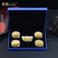 Souvenir 2022 Renyin-Jahr des Tiger-Gedenkmedaillons mit fünf Kombinationsversicherungspunkten Geschenk S