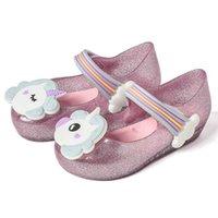 مصغرة ميليسا بنات الصنادل يونيكورن جيلي أحذية الأطفال الصنادل تنفس غير زلقة جودة عالية الصيف جيلي الأحذية ميليسا 210726