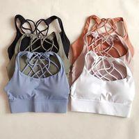 2010 GRATUIT pour être Yoga Bra Long Line Shirts sauvages Gîner Gilet Push Up Fitness Tops Sexy Sous-vêtements Lady Tops Braz de Yoga Bra