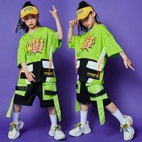 Etapa desgaste Hip Hop Ropa para niñas calle Dance Niños Trajes de jazz Camisas sueltas Camisetas Hiphop Pantalones Baile Baile Ropa