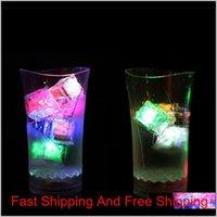 Flash Cubos de hielo Flash LED activado por agua Poner en agua Bebidas Flash Barras Boda Cumpleaños CRISTO QYLEYQ HOMES2007