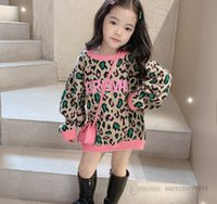 Children colorful leopard grain knitted sweater pullover girls letter printed long sleeve jumper fashion kids tops clothing Q1175