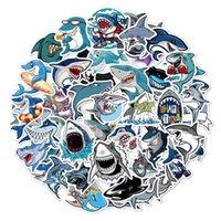 50 القرش كاريكاتير كتابات ملصقات السفر مربع الأطفال سكيت الثلاجة للماء الكرتون الفيلم ملصق هفوة اللعب