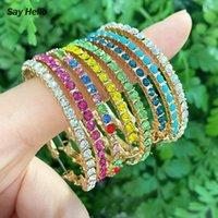 Hoop & Huggie SAY HELLO Trendy Turquoises Crystals Inlaid Big Circle Earrings Women Bohemian Jewelry Boucle D'oreille Femme Brincos K5694