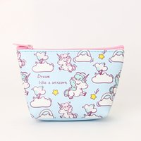 Women Makeup Cosmetic Bag Unicorn Make Up Toiletry Designer Girls Travel Organizer Pu Leather Lovely Purse Ladies Easy Carry Size:13x9 cm The Net Weight 0.04Kg