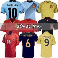 Final 1994 1996 2008 2010 2010 2012 Espanha Retro Soccer Jersey Fabregas Xavi Luis Ensrique Xavi Alonso Iniesta Pique Torres Camiseta de Fútbol
