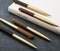 الجملة 10 قطعة / المجموعة * الماهوجني النحاس الدورية قلم قلم القلم