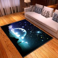 Carpets Nordic 3D Galaxy Space Carpet Rug Living Room Children Play Mat Home Decor Bedside Bedroom Soft Flannel Dining Table Area Rugs