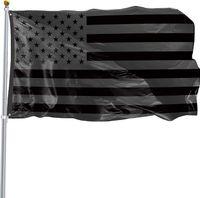 3x5ft الأسود العلم الأمريكي البوليستر لن يتم إعطاء ربع لنا الولايات المتحدة الأمريكية راية حماية التاريخية العلم على الوجهين داخل الهواء الطلق SN2477