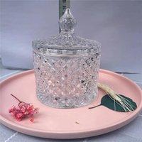 Kristall Kerzenhalter mit Deckel DIY Glas Kerzen Halter Tasse Für Festival Weihnachten Ostern Valentinstag Religiöse Aktivitäten Home Decoration