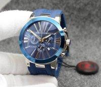 U1 Style Style Dual Time Exquisit Men Watch Orologio Cronografo Quarzo Numero romano Indicatori Outdoor Mens Orologi Hammerhead Shark Blue Gomma Band