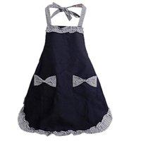 لطيف الرجعية جميلة خمر السيدات المطبخ الأزياء فليرتي أزياء المرأة مع جيوب أنماط سوداء ل هدية عيد الأم