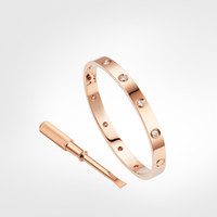 Vis 10 Diamonds Designer Love Hommes Bracelet Bijoux de luxe Femmes 316L Acier inoxydable Or Placide Or Never Fade