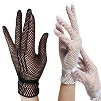 Five Fingers Gloves Women Lady Lace Mittens Accessories Sunscreen Summer Full Finger Girls Uv-proof Driving Mesh Fishnet