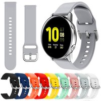 20mm 22mm Silikon Askı Samsung Galaxy İzle için 42mm Aktif 2 40 44mm Dişli S2 Yumuşak Spor Watch Band Watch Bands Huami Amazfit 2 Garmin için