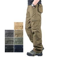 Pantalones para hombres 40106 hombres Carga al aire libre Senderismo Casual Sport Jogger Moda Straight 8 Pocket Conveniente Llevar Pantalón de algodón premium suelto