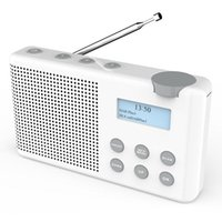 Radio DAB / FM DB-23, Radio compacto de batería recargable Adecuado para jardín de cocina