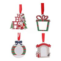 Sublimation Blank Christmas Tree Pendant DIY Creative Heat Transfer Santa Claus Xmas Hanging Ornaments HH21-486