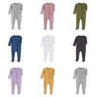 Baby Girl Boy Phetie Pajamas ползунка зима onsie с длинным рукавом комбинезон ins ins одежда новорожденная одежда младенческая боди