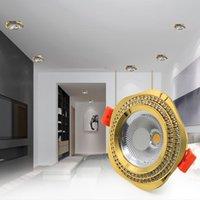 LED Downlight Downlight 220V LED Spot Lumière encastrée plafond 7W lumières lumières lumineux éclairage intérieur pour salon