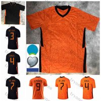 2021 Euro Kupası Hollanda Memphis De Jong Futbol Formaları Ligt Hollanda Strootman Promes Van Dijk Wijnaldum 2022 Futbol Gömlek Mens Milli Takımı