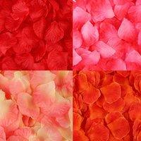 100piece / lot 5 * 5 سنتيمتر الاصطناعي الزهور محاكاة بتلات زخرفة زفاف غرفة الزواج روز زهرة