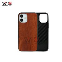 U&l Shockproof Cases Carved Phone Case For iPhone 11 XS MAX XR X 6 7 8 Plus Nature Walnut Blank Wood Soft Edge Back Cover 100pcs