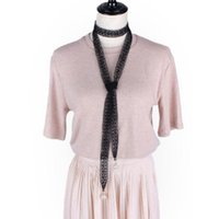 Cinturones Safenh Moda Mujeres Hollow Faja de cordón de perlas para la cintura larga Cuerda de nudo Vestidos femeninos decorados Cinta estrecha