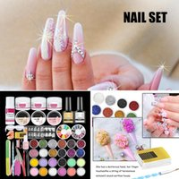 Nail Art Kits Crystal Set 24 Colors Glitter Extended Carved Pollen Novice Beginners Home Practice TI
