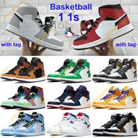 Hommes 1 OG Chaussures De Basketball Interdit Mi Race Multi Couleur Gym Rouge Chicago Noir Toe Athlétisme Baskets Top 1s Formateurs Hommes  Chaussures