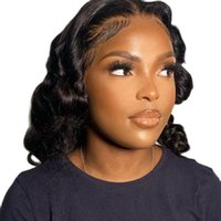 Lace Wigs For Black Women Human Hair Highlight Wig Loose Short Bob Colored