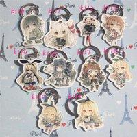 Anahtarlıklar 9 adet / takım Anime Anahtarlık Kantai Koleksiyonu Kancolle Nagato Sammeln Spielzeug Zuikaku Amatsukaze Naka Anahtarlık Kolye