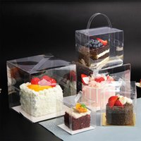 Gift Wrap Store Bag 10pcs Clear Cake Box Portable Transparent Baking Pastry Packaging Boxes For Birthday Decorating Supplies