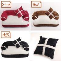 New Four Seasons Pet Dog Sofars Letti con cuscino Lavaggio rimovibile Soft Soft Fleece Cat Bed Caldo Chihuahua Small Dog Bed 675 K2