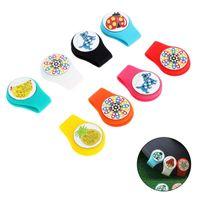 Golf Trening AIDS 1 pc Odpinany Kolorowe Rhinestone Ball Marker Marker i Magnetyczny Klip Silikonowy Klip Golfista Gifts Animal Owoce Wzór