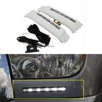Auto-Tech 1 Par Branco LED Daytime Running Light Fog Light DLL para Toyota Tundra 2007-2013 / Sequoia 2008-2018