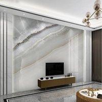 Personalizzato Bianco Lastra Marmo Grande Murale Canvas Sfondo autoadesivo Camera da letto camera da letto TV Sfondo Decor Soggiorno Papel de Parede
