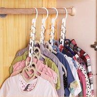 Magic Clothes Hanger 3D Space Saving Clothing Racks Closet Organizer with Hook EWF10416
