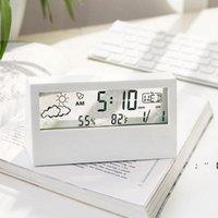 Haushalt digitales elektronisches Thermometer LCD-Temperatur Hygrometer Schwarzweiß-Uhr Home Innen-Sense-Thermometer Temp-Meter RRA9651