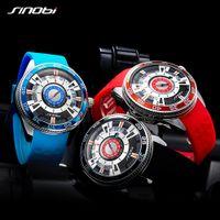 SINOBI men's business fashion watch top brand luxury luminous display waterproof creative stainless steel quartz wrist watch Reloj Hombre