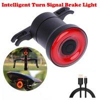 Bike Lights COB LED Bicycle Tail Light Intelligent Turn Signal Brake Induction Night Safer Lamp Tools *0.9