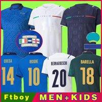 2021 2022 fãs Versão do jogador Itália Final Futebol Jerseys Bonucci Barella Insigne 20 21 22 Chiellini Italia Verratti Maglie da Calcio Chievo Camisas de futebol Men Kids